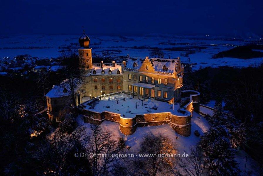 Schloss Callenberg, Coburg, nachts