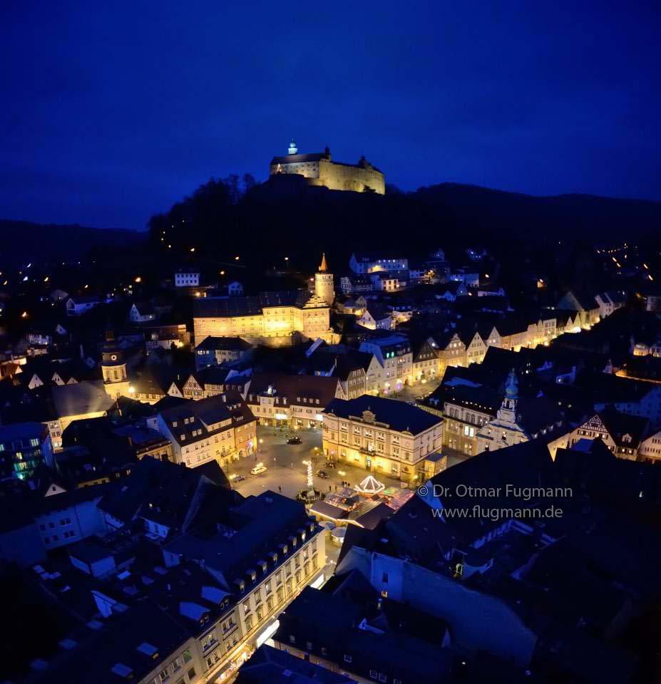 Kulmbach bei Nacht