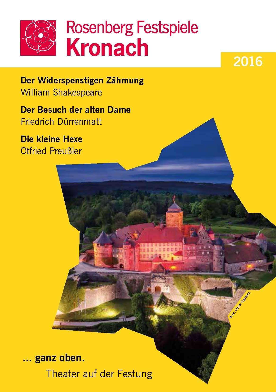 2016 Rosenberg-Festspiele Programmheft Titelseite